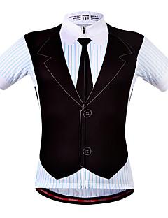 billige Sykkeljerseys-WOSAWE Herre Dame Unisex Kortermet Sykkeljersey - Blå / Svart Suit T-skjorte Store størrelser Sykkel Jersey Topper, Pustende Fort Tørring Refleksbånd Polyester 100% Polyester / Elastisk / Avanceret