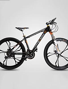 baratos Total Promoção Limpa Estoque-Bicicleta De Montanha Ciclismo 27 velocidade 26 polegadas / 700CC SHIMANO M370 Freio a Disco Hidráulico Garfo com Suspensão a Mola Manocoque Comum Liga de alumínio / #