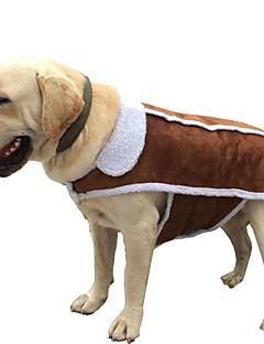 billiga Hundkläder-Hund / Katt Kappor / Jakke Hundkläder Enfärgad Brun Cotton Kostym För husdjur Unisex Ledigt / vardag / Uppvärmning