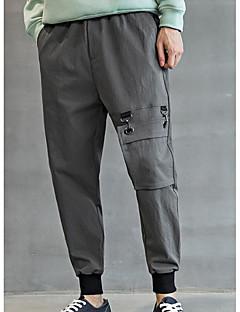 billige Herrebukser og -shorts-Herre Store størrelser Tynn Chinos Bukser Ensfarget