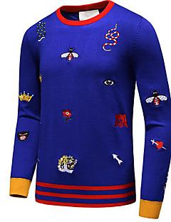 baratos Suéteres & Cardigans Masculinos-Homens Moda de Rua Pulôver - Animal