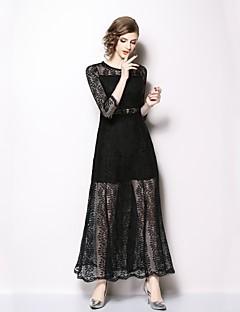 abordables Colecciones de Diseño-Mujer Básico Vaina Vestido - Encaje, Un Color Midi