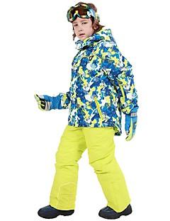 billiga Skid- och snowboardkläder-Phibee Pojkar / Flickor Skidjacka och -byxor Vindtät, Vattentät, Håller värmen Skidåkning / Utomhusträning / Freestyle-snowboard Polyester Vinterjacka / Varma byxor Skidkläder