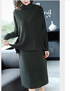 Χαμηλού Κόστους Sweater Dresses-Γυναικεία Βασικό Βαμβάκι Παντελόνι - Μονόχρωμο Patchwork Μαύρο / Ζιβάγκο