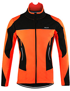 cd52bc0f0 Arsuxeo Men s Cycling Jacket Bike Jacket Top Thermal   Warm Windproof  Breathable Sports Polyester Spandex Fleece Winter Orange   Red   Blue  Mountain Bike ...