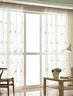 billige Gjennomsiktige gardiner-Gardiner Skygge Soverom Moderne Bomull / Polyester Reaktivt Trykk