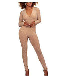 billige Jumpsuits og sparkebukser til damer-Dame Grunnleggende Kjeledresser - Ensfarget, Lapper