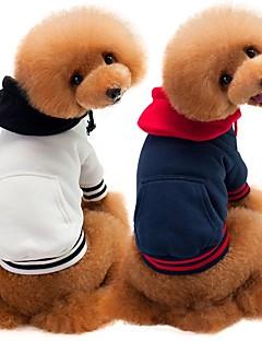billiga Hundkläder-Hund / Katt Tröja Hundkläder Enfärgad Vit / Mörkblå / Grå Cotton Kostym För husdjur Herr Minimalistisk Stil / Ledig / Sportig