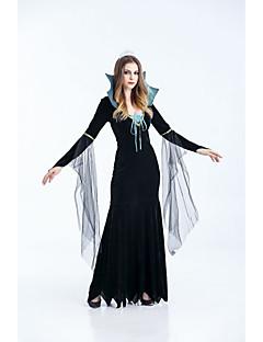 billige Halloweenkostymer-Vampyrer Kjoler Cosplay Kostumer Dame Voksne Kjoler Halloween Halloween Festival / høytid Halloween-kostymer Drakter Svart Halloween
