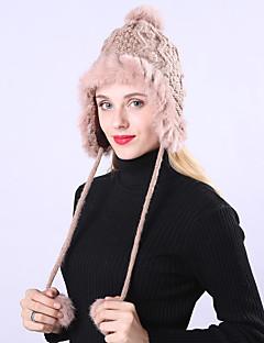 billige Hatter til damer-Dame Grunnleggende / Ferie Solhatt - Flettet, Ensfarget