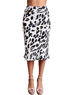 tanie AW 18 Trends-damska strona midi bodycon spódnice - leopard wysokiej talii