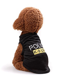 billiga Hundkläder-Hund / Katt Väst Hundkläder Enfärgad / Bokstav & Nummer Svart / Fuchsia / Rosa Terylen Kostym För husdjur Unisex Ledigt / vardag / Minimalistisk Stil