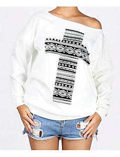 tanie Damskie bluzy z kapturem-Damskie Moda miejska Bluza dresowa - Geometric Shape