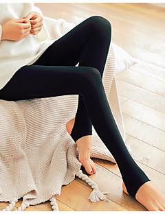 baratos Leggings para Mulheres-Mulheres Diário Básico Legging - Sólido Cintura Média