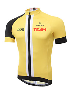 XINTOWN Men s Short Sleeve Cycling Jersey - Black Yellow Fashion Bike Jersey  Top Breathable Quick Dry Ultraviolet Resistant Sports Elastane Terylene  Lycra ... 695deaedb