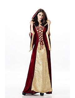 billige Halloweenkostymer-Queen Kjoler Cosplay Kostumer Dame Voksne Kjoler Halloween Halloween Maskerade Festival / høytid Halloween-kostymer Drakter Rød Printer