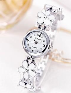 billige Blomster-ure-Dame Armbåndsur Quartz Afslappet Ur Rustfrit stål Bånd Analog Blomst Afslappet Sølv / Guld - Sølv Gyldent