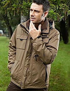 tanie Odzież turystyczna-Męskie Kurtki 3 w 1 na wolnym powietrzu Jesień Wiosna Zima Ochrona przed deszczem Oddychalność Zdatny do noszenia Nylon Kurtka zimowa Pojedyncze Slider Narciarstwo Łowiectwa i Rybołówstwa Kemping