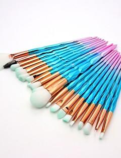 billige Sminkebørstesett-20pcs Makeup børster Profesjonell Rougebørste / Øyenskyggebørste / Leppebørste Nylon Fiber Full Dekning