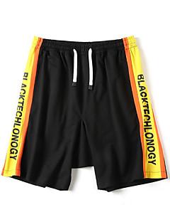 billige Herrebukser og -shorts-menns bomullsløse shortsbukser - brev / fargeblokk