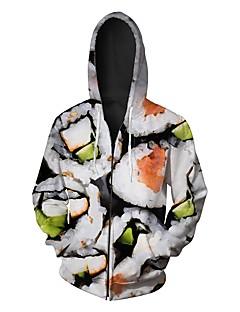 tanie Miesten hupparit ja collegepuserot-męska bluza z długim rękawem - geometryczna z kapturem