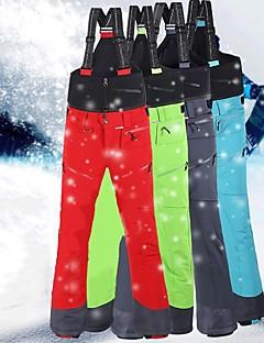 billiga Skid- och snowboardkläder-Herr Skidbyxor Vindtät, Vattentät, Håller värmen Skidåkning / Snowboardåkning / Vintersport Terylen Snö Bibbyxor Skidkläder