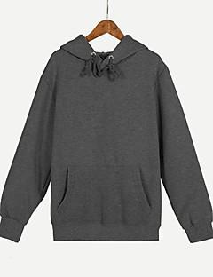 baratos Abrigos e Moletons Masculinos-capuz solto de manga comprida para homem - capuz de cor sólida