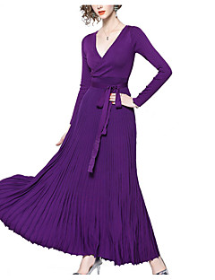 baratos Vestidos de Festa-Mulheres Elegante balanço Vestido Longo