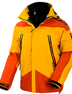 billiga Skid- och snowboardkläder-Herr Skidjacka Vindtät, Vattentät, Regnsäker Skidåkning / Camping / Snowboardåkning 100% Polyester Vinterjacka Skidkläder / Håller värmen