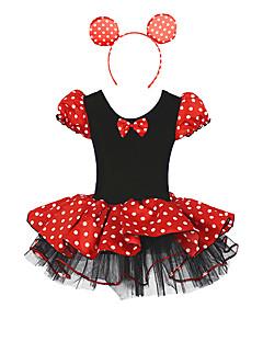 billige Barnekostymer-Prinsesse Eventyr Cosplay Kostumer Party-kostyme Barne Halloween Karneval Barnas Dag Festival / høytid Riflet Drakter Polkadotter Lapper