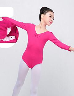 billige Danseklær til barn-Ballet Trikoter Jente Trening / Ytelse Elastan / Lycra Kryssdrapering Langermet Trikot / Heldraktskostymer