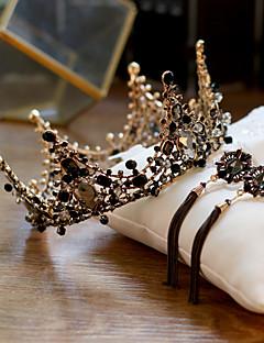 billiga Lolitamode-Svart svan Dam Vintage Elegant Ringformade Örhängen Tiaror Till 1 Par Örhängen Tiaror Kostymsmycken