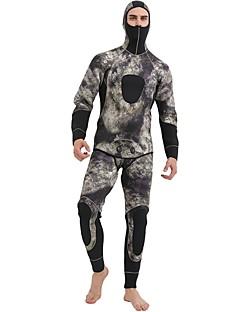 Χαμηλού Κόστους Σέρφινγκ, καταδύσεις και ψαροντούφεκο-SBART Ανδρικά Πλήρης στολή κατάδυσης 5mm Σετ Ρούχων Ανατομικός Σχεδιασμός Μακρυμάνικο 2 τεμάχια καμουφλάζ Φθινόπωρο / Χειμώνας / Μικροελαστικό