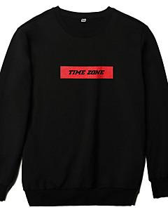billige Hættetrøjer og sweatshirts til herrer-Herre Gade Sweatshirt - Ensfarvet / Geometrisk
