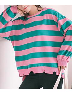 baratos Moletons com Capuz e Sem Capuz Femininos-hoodie da luva longa da saída das mulheres - bloco da cor encapuçado