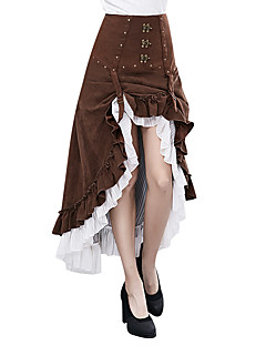 cheap Steampunk-Goddess Steampunk Costume Women's Dress Coffee Vintage Cosplay Polyster Long Pant