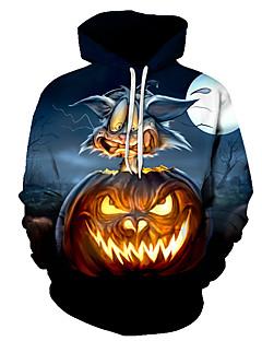 billige Hættetrøjer og sweatshirts til herrer-Herre Punk & gotisk / overdrevet Hattetrøje - Farveblok