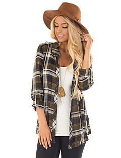 billige Skjorte-dame skjorte - farve blok skjorte krave