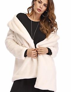 Χαμηλού Κόστους Γυναικείες Γούνες & Δέρμα-Γυναικεία Γούνινο παλτό Σέξι / Πανκ & Γκόθικ - Μονόχρωμο