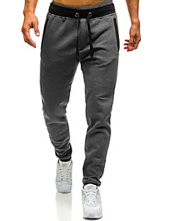 cheap Men's Pants & Shorts-Men's Loose Chinos / Sweatpants Pants - Color Block Black