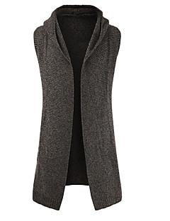 tanie Męskie swetry i swetry rozpinane-Męskie Podstawowy Sweter rozpinany Solidne kolory