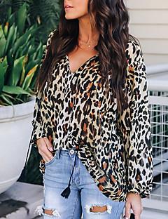 cheap Women's Tops-Women's Basic Blouse - Leopard
