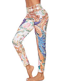 baratos Leggings para Mulheres-Mulheres Diário Básico Legging - Geométrica Cintura Média