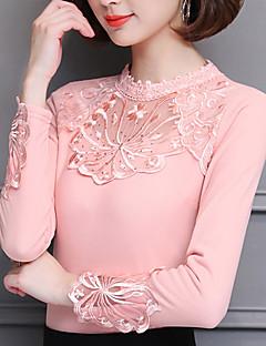 billige Bluse-Dame - Blomstret Net Bluse
