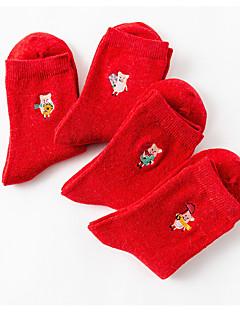 billige Sokker og strømper til damer-Alle Sokker - Ensfarget / Geometrisk Normal