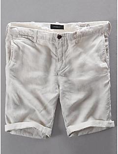 billige Herrebukser og -shorts-Herre Grunnleggende Shorts Bukser - Ensfarget Beige