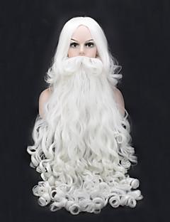 billige julen Kostymer-Nisse drakter Cosplay Kostumer Unisex Tenåring Voksne Jul Jul Nytt År Festival / høytid Festet Drakter Hvit Ferie