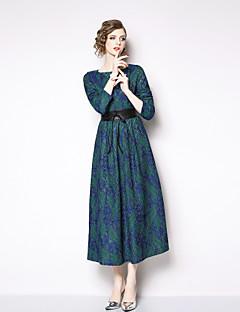 5dd040bdfd94 Dame Sofistikerede   Elegant Skede Kjole - Farveblok