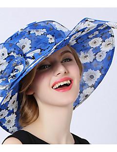 billige Hatter til damer-kvinners polyester solhue - print