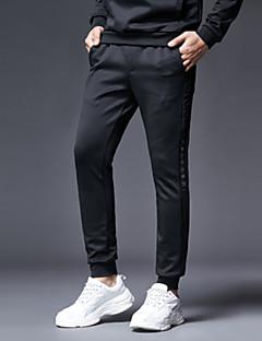 billige Herrebukser og -shorts-Herre Gatemote Chinos Bukser - Ensfarget Svart